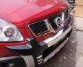 Накладки переднего и заднего бампера для Nissan Qashqai / Ниссан Кашкай 2008-2012
