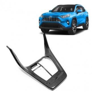 Накладки под карбон Тойота РАВ 4 / Toyota RAV 4 2019-2020 на центральную консоль