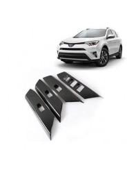 Накладки под карбон Тойота РАВ 4 / Toyota RAV 4 2016-2019 на двери