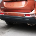 Хром накладка заднего бампера Митсубиси Аутлендер 3 / Mitsubishi Outlander 3 2013-2015