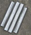 Комплект накладок на пороги для Peugeot 3008 / Пежо 3008 2013-2014