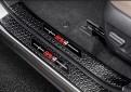 Накладки на пороги Тойота Рав 4 / Toyota Rav 4 XA50 2019-2020 Черный титан