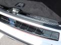 Накладка бампера Мерседес ГЛК / Mercedes-Benz GLC X253 2015-2019 Черный титан