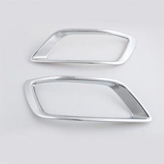 Хромированные накладки заднего бампера Субару Форестер / Subaru Forester S5 2018-2019