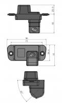 Обзорная камера заднего вида SsangYong Actyon / Санг енг Актион 2006-2011