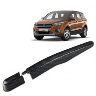 Накладка заднего дворника Форд Куга 2 / Ford Kuga 2 2013-2019 под карбон