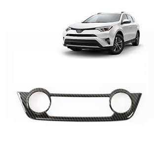 Накладки под карбон Тойота РАВ 4 / Toyota RAV 4 2016-2019 на блок климат контроля