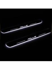 Накладки на пороги с подсветкой для Форд Фокус 3 / Ford Focus 3 2012-2015