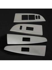 Накладки из нержавейки на подлокотники дверей Toyota Highlander / Тойота Хайлендер 2012-2013