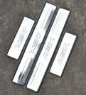 Комплект накладок на пороги для Mitsubishi ASX / Митсубиши АСХ 2011-2013