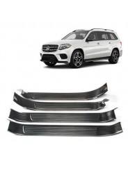 Накладки порогов Мерседес ГЛC / Mercedes-Benz GLS X166 2015-2019 Черный титан