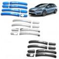 Хром накладки ручек дверей Ford Focus / Форд Фокус 2010-2019