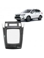 Накладка карбон Субару Форестер / Subaru Forester 2012-2018 на центральную консоль