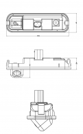 Обзорная камера заднего вида Ford Focus 3 / Форд Фокус 3 2011-2015