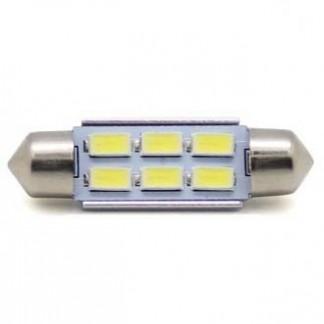 Светодиодная лампа T11 6 Led 36 мм