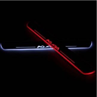 Накладки на пороги с подсветкой для Форд Куга / Ford Kuga 2013-2016