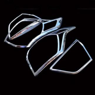 Хром комплект задних фонарей Хендай Крета / Hyundai Creta 2016-