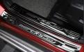 """Защитные накладки на пороги """"Черный титан"""" Мазда СХ-5 / Mazda CX-5 KF 2017-2018"""