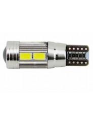 Светодиодная лампа T10 W5W 10 Led Canbus