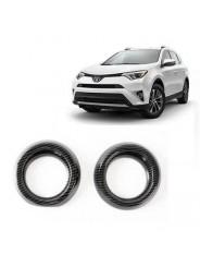 Накладки под карбон Тойота РАВ 4 / Toyota RAV 4 2016-2019 на воздуховоды