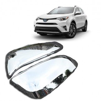 Накладки зеркал хромированные Тойота РАВ 4 / Toyota RAV 4 2014-2019