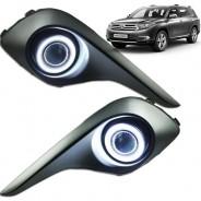 Противотуманные фары линза Тойота Хайлендер / Toyota Highlander 2010-2013