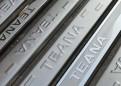 Комплект накладок на пороги для Nissan Teana / Ниссан Теана 2014-