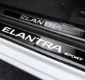 Накладки порогов Карбон Hyundai Elantra / Хендай Элантра 2015-2019