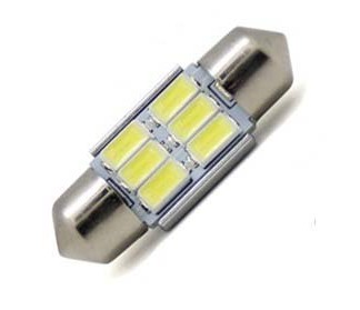 Светодиодная лампа T11 6 Led 31 мм