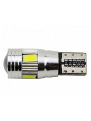Светодиодная лампа T10 W5W 6 Led Canbus