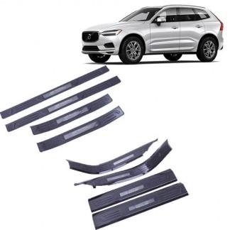Накладки на пороги под карбон для Volvo XC60 / Вольво ХС60 2017-2019