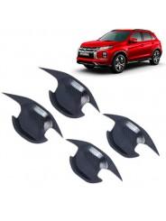 Накладки под ручки дверей (чашки) Митсубиси АСХ / Mitsubishi ASX 2010-2021 Карбон