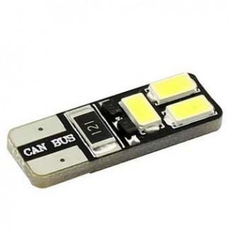 Светодиодная лампа T10 W5W 6 Led двухсторонняя Canbus