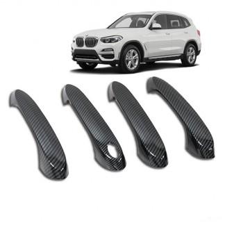 Накладки ручек дверей карбон BMW X3 / БМВ Х3 2017-2019