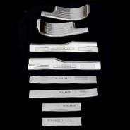 Комплект накладок на пороги Mitsubishi Outlander / Митсубиси Аутлендер 3 2013-2017