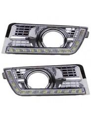 Дневные ходовые огни (ДХО) хром для Cadillac SRX / Кадиллак СРХ 2013-