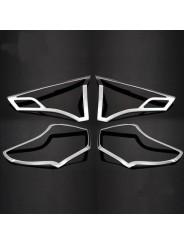 Хром накладка задних фонарей Тойота Рав 4 / Toyota Rav 4 2013-2015