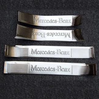 Защитные накладки на пороги для Мерседес ГЛЕ / Mercedes W166 GLE 2015-2017